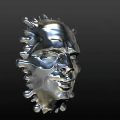 meltface_Hardened_chrome.png Download free OBJ file Hardened Melt Face • 3D printable design, yttrium