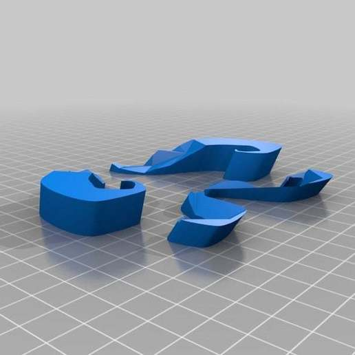 moustache_solid.jpg Download free STL file Moustache Mask addon • 3D print object, yttrium