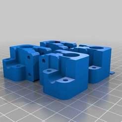 TwisterBlocks_12.2holes.jpg Download free STL file mod. Twisterblocks for oil free bushings • Template to 3D print, yttrium