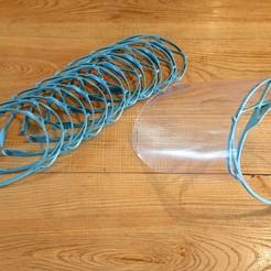 Descargar archivo 3D gratis Visor ergonómico covid-19 sin elástico #3DvsCOVID19, FLoRo