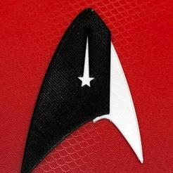 Download free 3D printer templates Star Trek Discovery badge, frenchguy_ch