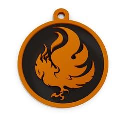 llavero fenix 2.jpg Download STL file Key ring - Phoenix • 3D printer model, fabiofenix88
