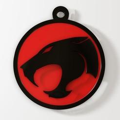 thundercats 2.jpg Download STL file Thundercats keychain • 3D printable template, fabiofenix88