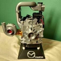 Mazda Wankel Square 01.JPG Télécharger fichier STL gratuit Mazda Rx7 Wankel Remix • Design pour imprimante 3D, mcmaven