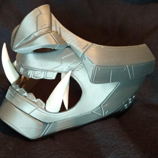 Download free STL file Oni Cyber Punk Mask • 3D printer model, mcmaven
