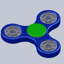 Free 3D printer model Spinner fidget, nabu3d