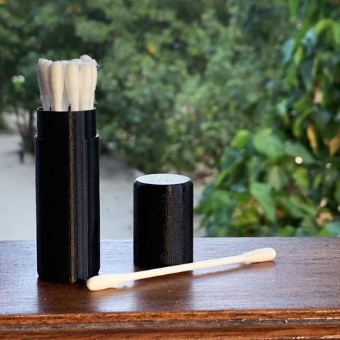 Download free 3D printing designs Cotton swabs case, nabu3d