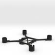Diseños 3D FPV mini cuadricóptero (90x90 mm), nabu3d