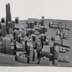 04.jpg Download STL file 3D Model of Manhattan Tile 04 • 3D printer template, denalain4