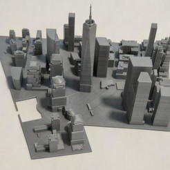 Imprimir en 3D Modelo 3D del Azulejo de Manhattan 03, denalain4