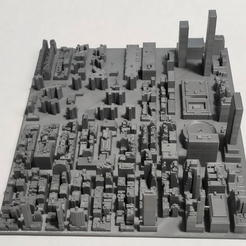 24.jpg Download STL file 3D Model of Manhattan Tile 24 • 3D printable template, denalain4