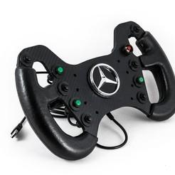 3D print model DIY fully 3d printed 300mm AMG GT3 Steering wheel Replica, gaspol