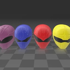 dai 1.jpg Download STL file 6 dairanger helmets • 3D printable template, MalasPulgasDesign