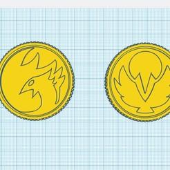 street coins.jpg Download STL file ryu and chun lee's coin • 3D printer design, MalasPulgasDesign