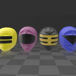 zeo 1.jpg Download STL file zeo rangers pack • 3D printing design, MalasPulgasDesign