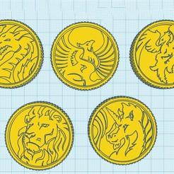 thunder zord.jpg Download STL file coins thunderzord • 3D printer model, MalasPulgasDesign
