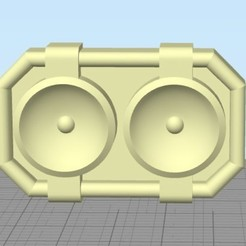 Download 3D printing designs Power rangers turbo buckle, R17