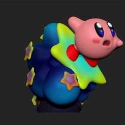 0kirby back.jpg Télécharger fichier OBJ gratuit Kirby Super Star • Plan imprimable en 3D, GameWarrirors