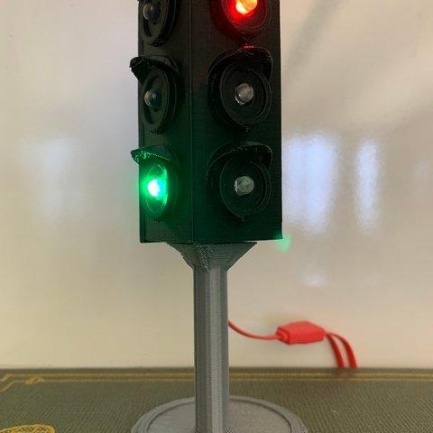 Download free 3D printer files Chibi Clip Traffic Light, virtuous70