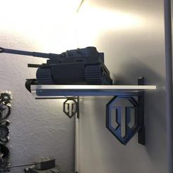 Download free STL file Shelf bracket World of Tanks w/o screws • 3D printable design, ThaliaFP