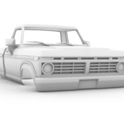 Captura de pantalla (364).png Télécharger fichier STL Ford F-150 1973 313mm • Plan pour imprimante 3D, aleessa