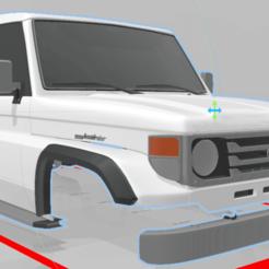 Captura de pantalla (137).png Télécharger fichier STL Toyota Land Cruiser (J70) 3 portes 275MM • Design imprimable en 3D, aleessa