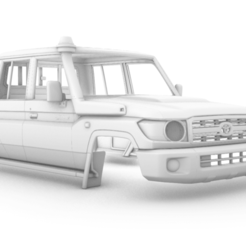 Captura de pantalla (397).png Download STL file Toyota Land Cruiser J79 Double Cab Pickup 2012 340 MM • 3D printing object, aleessa