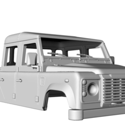 Captura de pantalla (48).png Download STL file Land Rover Defender 130 HighCapacity DoubleCabPickUp 325 MM • 3D printing object, aleessa
