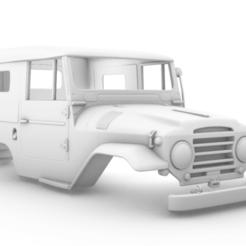 Captura de pantalla (269).png Télécharger fichier STL Toyota Land Cruiser (J20) 1958 285mm • Plan pour imprimante 3D, aleessa