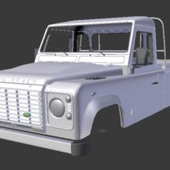 Captura de pantalla (167).png Télécharger fichier STL Land Rover Defender 110_HighCapacity PickUp_2011, 313MM • Design pour imprimante 3D, aleessa