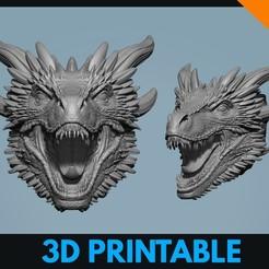 Download 3D printing designs Drogon Dragon Game Of Thrones Fan Art Inspired 3D print model, Saintpix