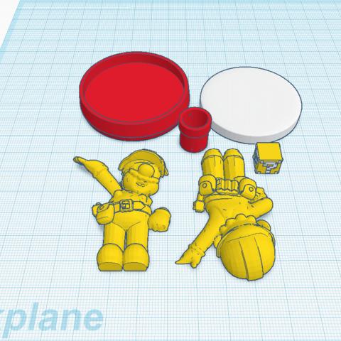 Download free 3D printer files Custom Mario Maker amiibo