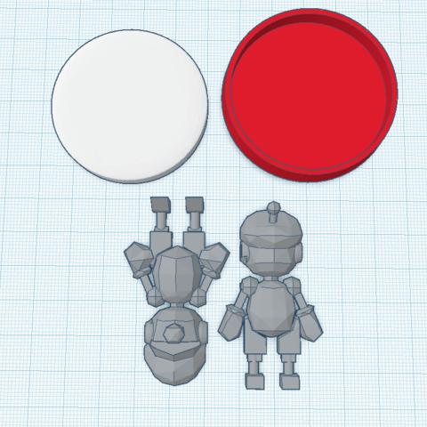 Télécharger STL gratuit Robo-Mario(Mariokart Arcade) amiibo sur mesure, Cart3r