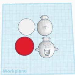 Custom King Boo Amiibo.png Télécharger fichier STL gratuit King Boo amiibo sur mesure • Design pour imprimante 3D, Cart3r