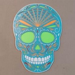 photo4938732046008821979.jpg Télécharger fichier STL Crâne mexicain (Sugar Skull) V2 • Modèle pour imprimante 3D, ogeid84leonplateado