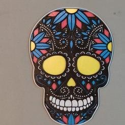 photo4938732046008821983.jpg Télécharger fichier STL Crâne mexicain (Sugar Skull) V3 • Modèle imprimable en 3D, ogeid84leonplateado