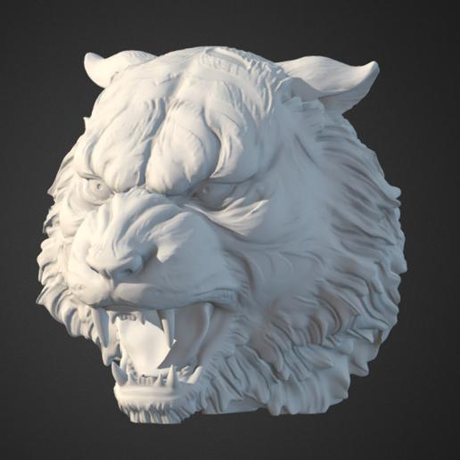 Télécharger fichier STL gratuit Tête de tigre • Objet imprimable en 3D, Hardesigner