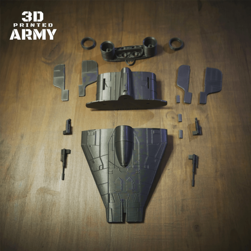 cults 10-1.png Download STL file STAR WARS   A-WING RZ-1 STARFIGHTER with BASEMENT  • Template to 3D print, 3DprintedArmy