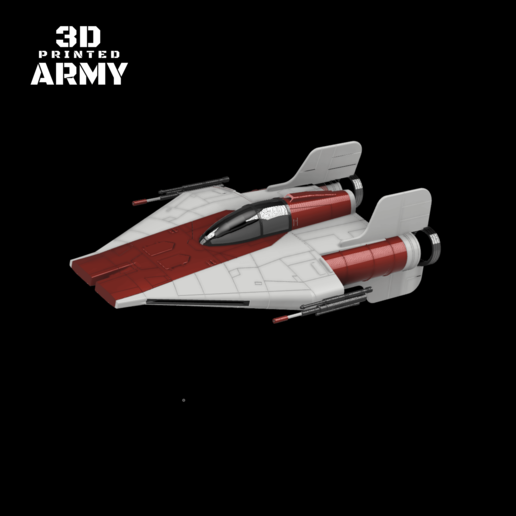 cults 5.png Download STL file STAR WARS   A-WING RZ-1 STARFIGHTER with BASEMENT  • Template to 3D print, 3DprintedArmy