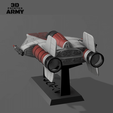 cults 2.png Download STL file STAR WARS   A-WING RZ-1 STARFIGHTER with BASEMENT  • Template to 3D print, 3DprintedArmy