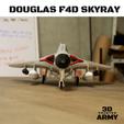 Sans titre (4).png Download STL file DOUGLAS F4D SKYRAY  • 3D printer object, 3DprintedArmy