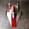 zpaint 6.png Download STL file STAR WARS   A-WING RZ-1 STARFIGHTER with BASEMENT  • Template to 3D print, 3DprintedArmy