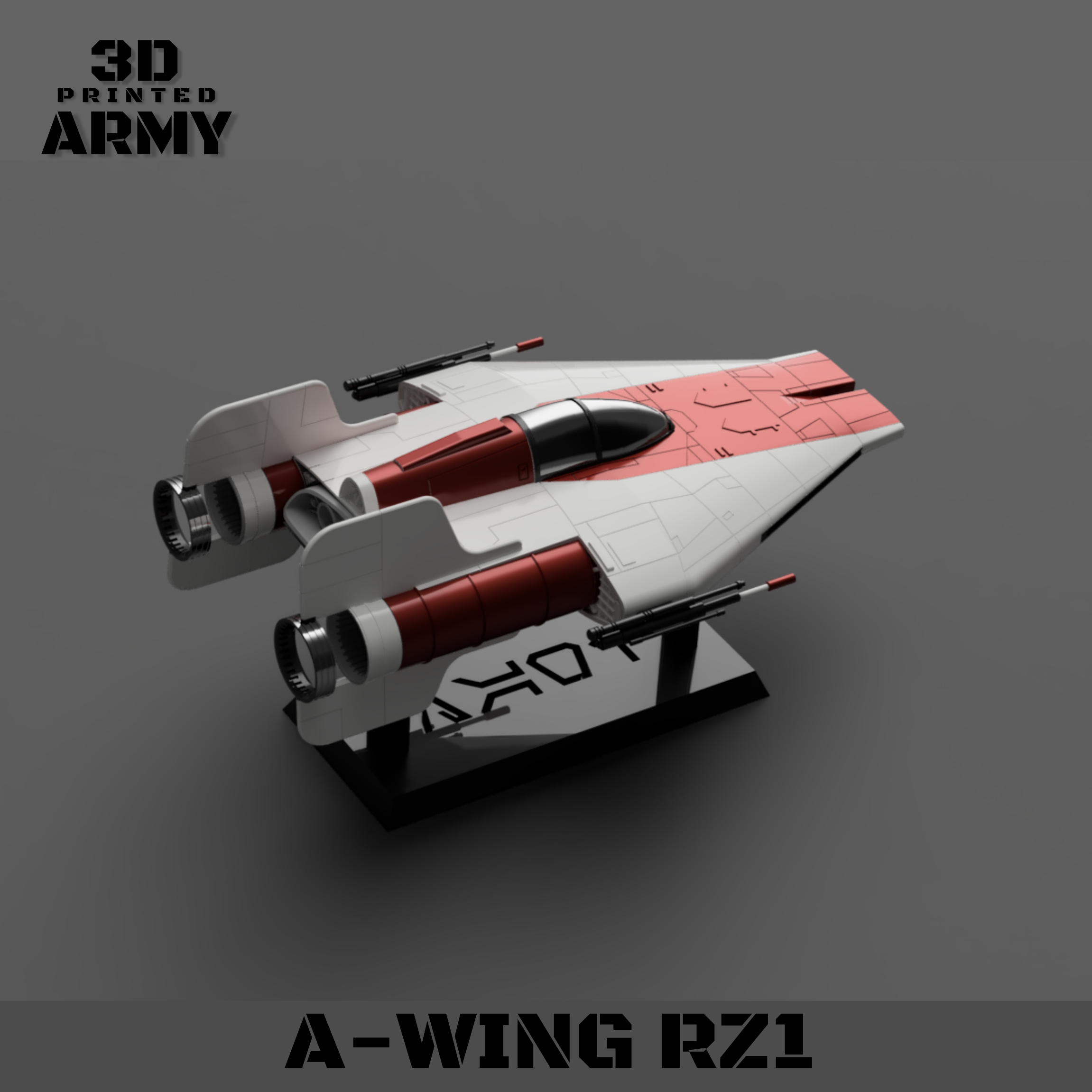 cults 6.png Download STL file STAR WARS   A-WING RZ-1 STARFIGHTER with BASEMENT  • Template to 3D print, 3DprintedArmy