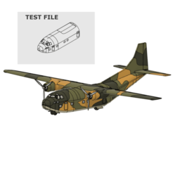 Download free 3D printer designs 1/69 e scale model C-123 provider TEST FILE+MANUAL, 3DprintedArmy