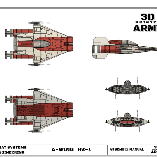 cults 14.png Download STL file STAR WARS   A-WING RZ-1 STARFIGHTER with BASEMENT  • Template to 3D print, 3DprintedArmy