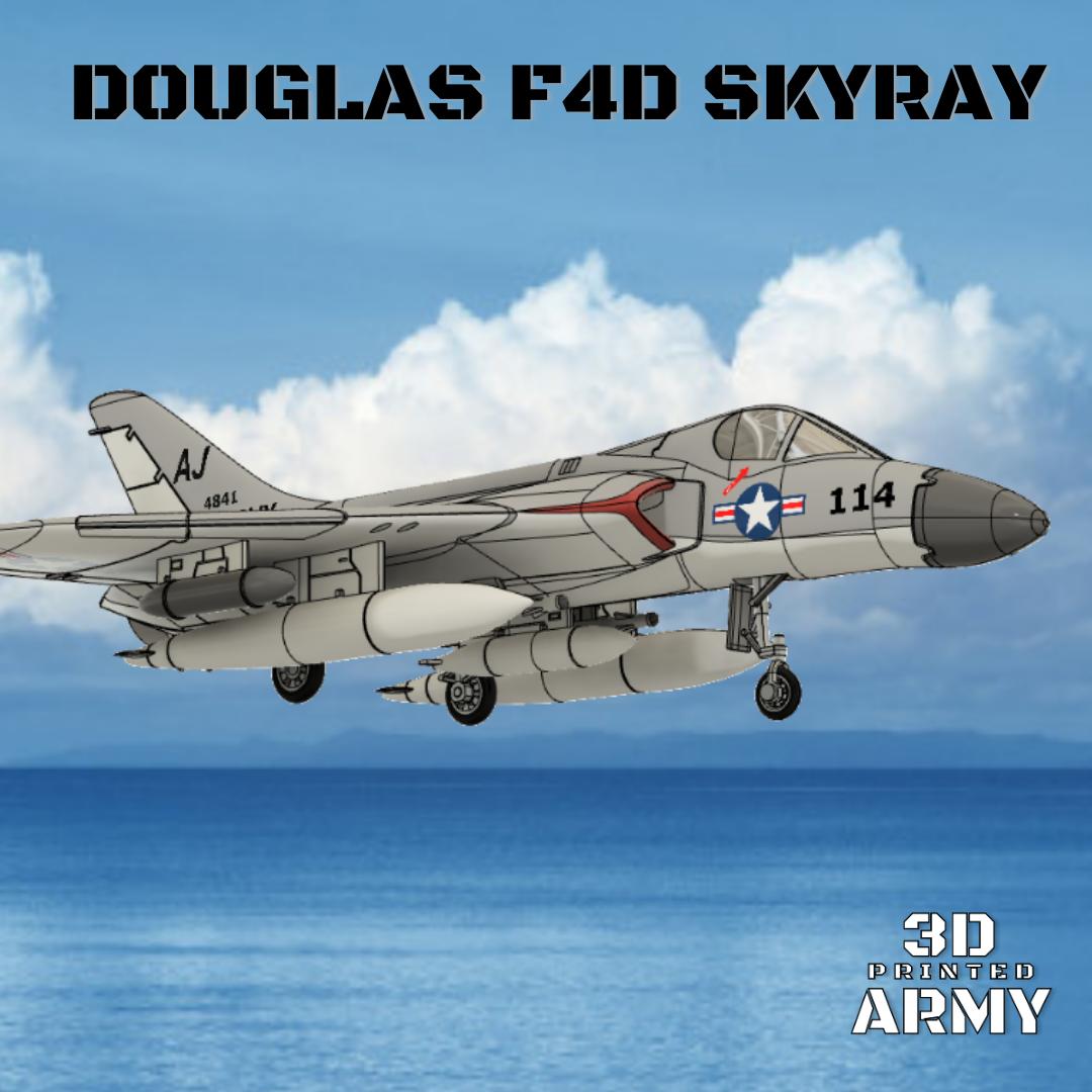 Sans titre (8).png Download STL file DOUGLAS F4D SKYRAY  • 3D printer object, 3DprintedArmy