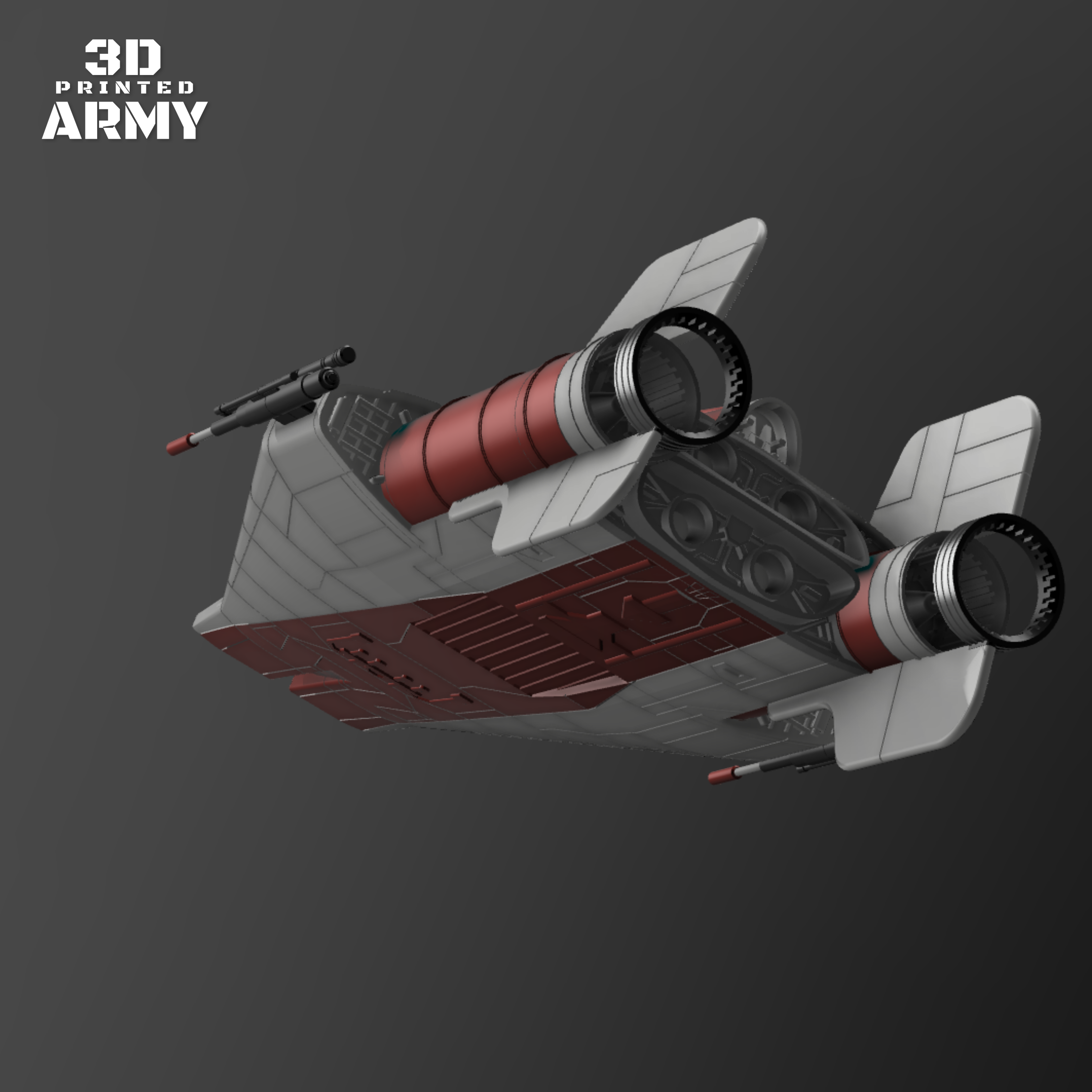 cults3.png Download STL file STAR WARS   A-WING RZ-1 STARFIGHTER with BASEMENT  • Template to 3D print, 3DprintedArmy