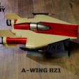 zpaint 5.png Download STL file STAR WARS   A-WING RZ-1 STARFIGHTER with BASEMENT  • Template to 3D print, 3DprintedArmy