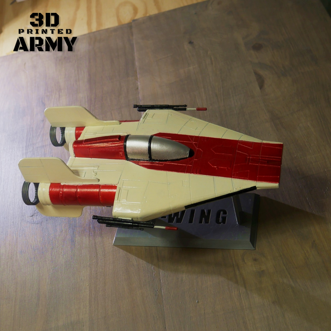 cults awing 2.png Download STL file STAR WARS   A-WING RZ-1 STARFIGHTER with BASEMENT  • Template to 3D print, 3DprintedArmy