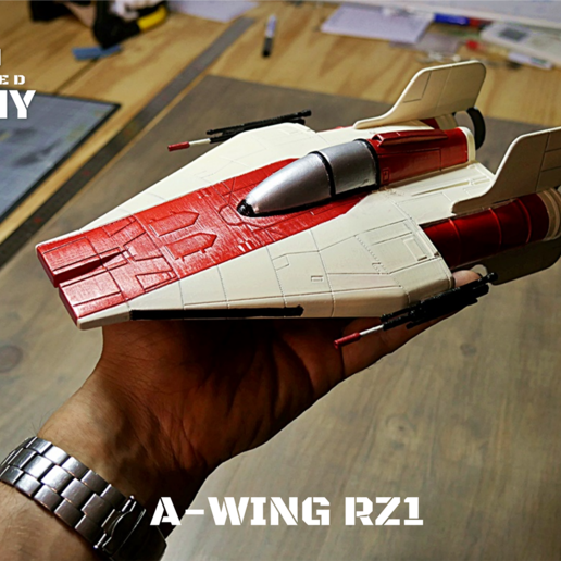 z paint 2.png Download STL file STAR WARS   A-WING RZ-1 STARFIGHTER with BASEMENT  • Template to 3D print, 3DprintedArmy